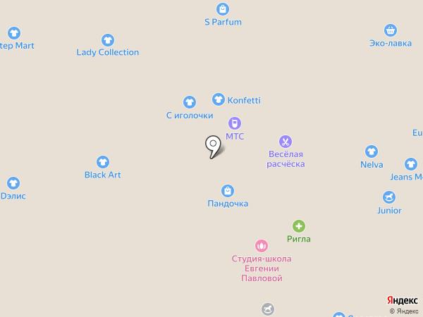 Весёлая расчёска на карте Липецка