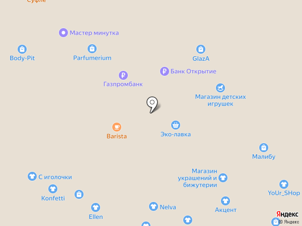 Langery на карте Липецка