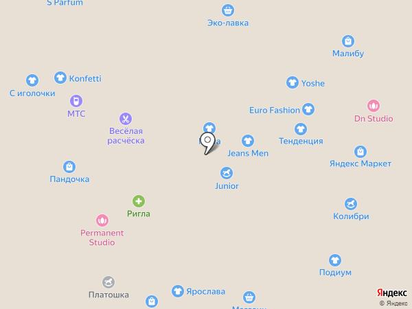 Platinum на карте Липецка