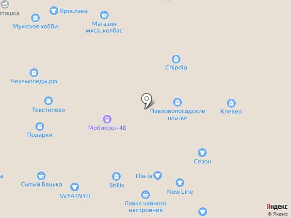 Баловница на карте Липецка