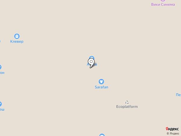Арена на карте Липецка