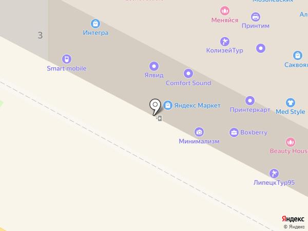 Indivi на карте Липецка