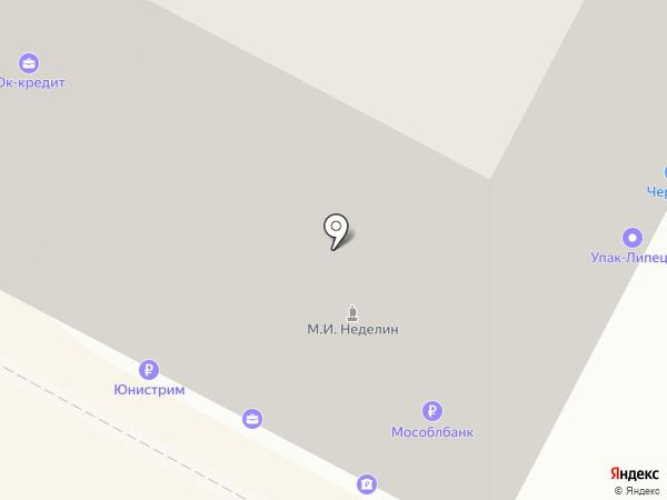 Упак-Липецк на карте Липецка