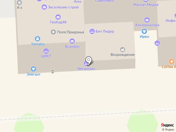 Салон оптики на карте Липецка