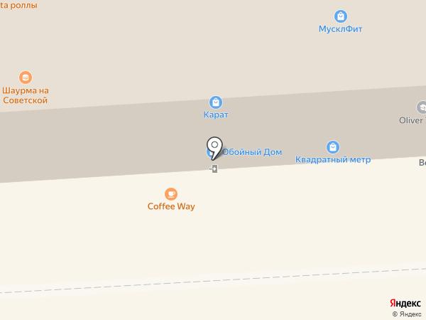 Квадратный метр на карте Липецка