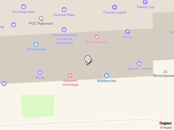 Даккотта на карте Липецка