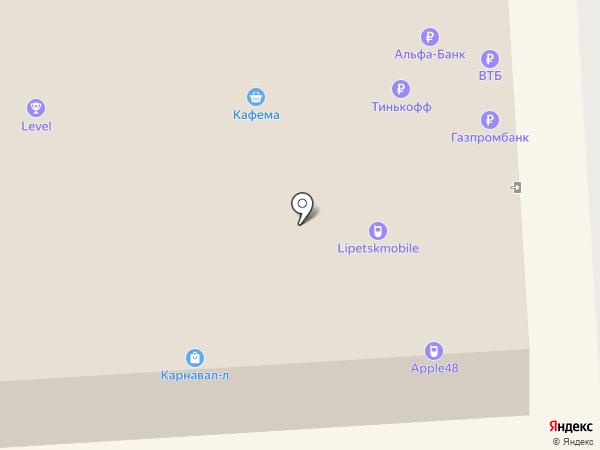 Банкомат, Газпромбанк на карте Липецка