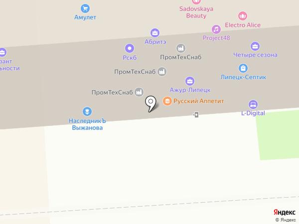М4 на карте Липецка