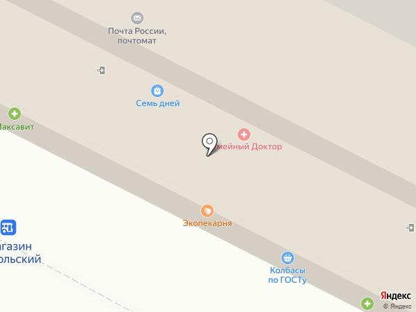 Бретель на карте Липецка