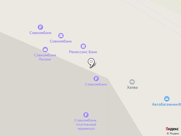 Платежный терминал, Ренессанс кредит на карте Липецка