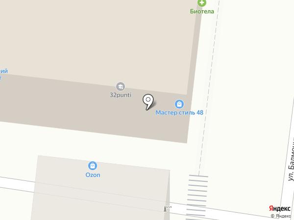 Липецк-Керамика на карте Липецка