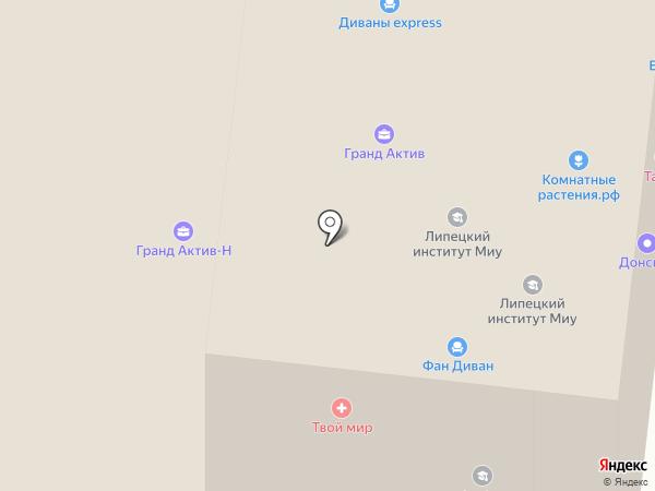 Агронова-Липецк на карте Липецка