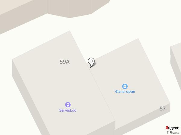 Фанагория на карте Сочи