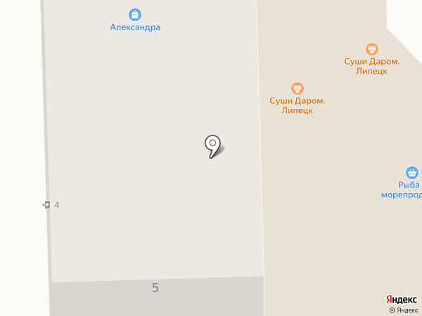 Вилон на карте Липецка