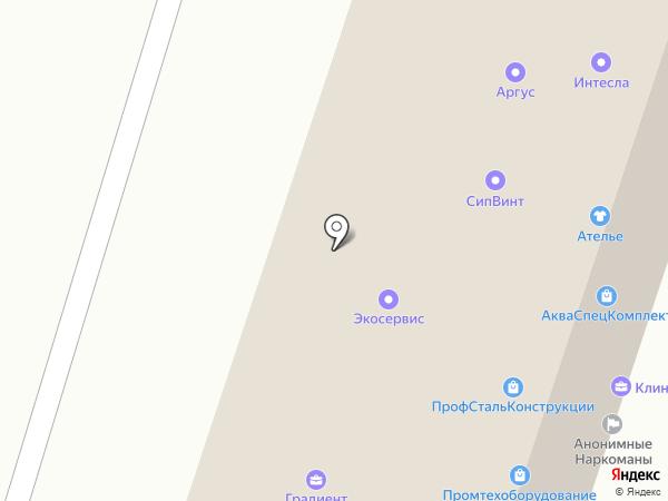 Тензор на карте Липецка