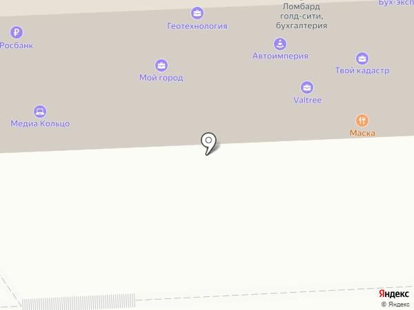 Маска на карте Липецка