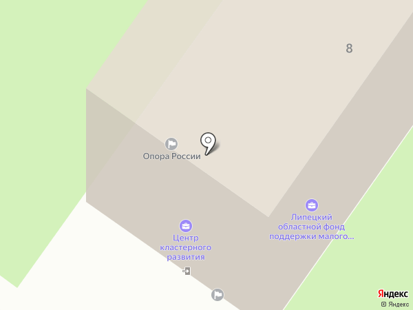Губернская на карте Липецка