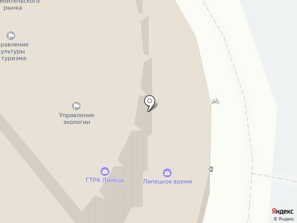 Радио России, УКВ 66.53 на карте Липецка