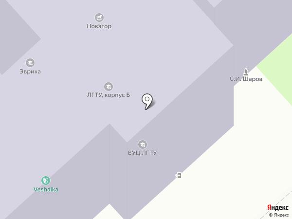 Липецкий государственный технический университет на карте Липецка