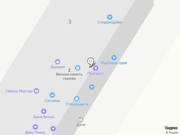 Донтеплострой на карте Ростова-на-Дону