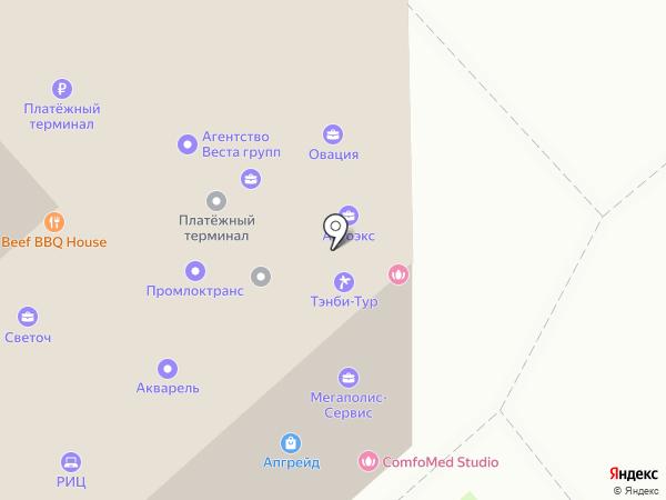 Азбука на карте Липецка