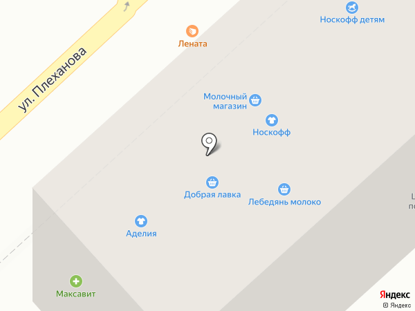 Магазин молочной продукции на карте Липецка