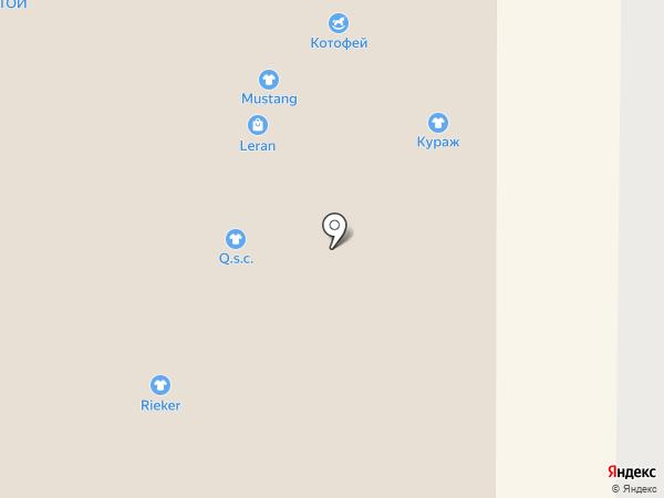 Котофей на карте Ростова-на-Дону