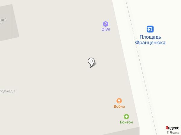 Вобла на карте Липецка