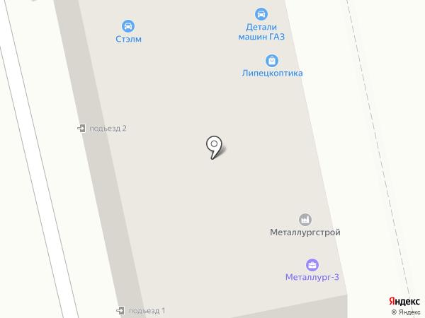 Дачный-4 на карте Липецка