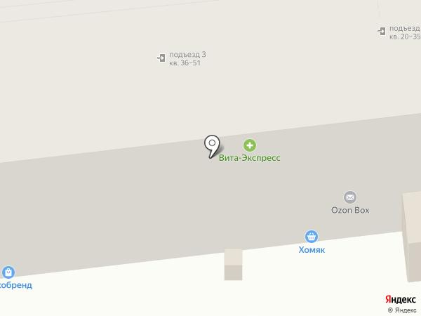 Универ на карте Липецка