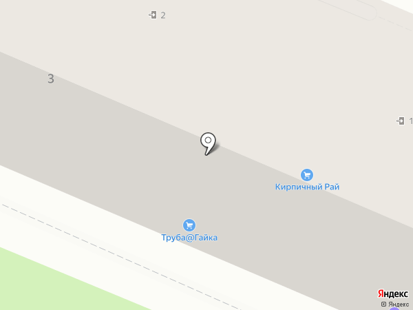 Кирпичный рай на карте Липецка