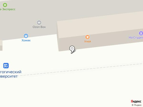 Улей на карте Липецка