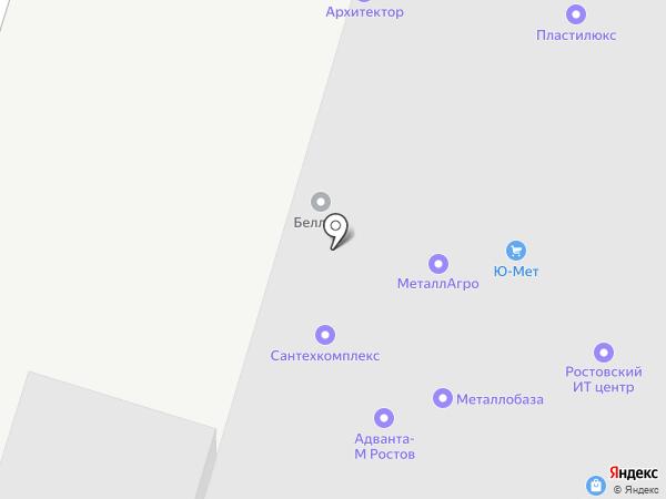 ТПК ЮГ на карте Ростова-на-Дону