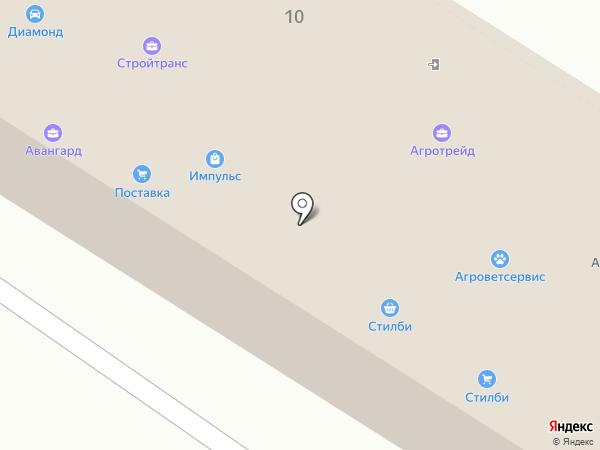 Диамонд на карте Липецка