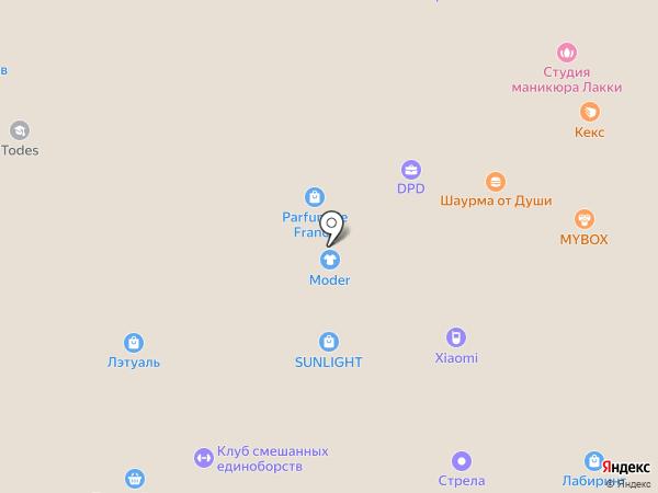 Непоседа на карте Ростова-на-Дону