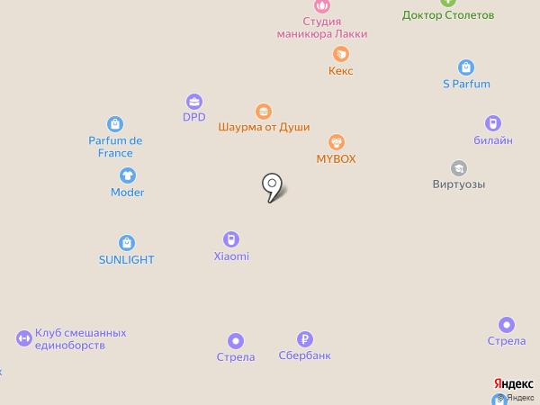 Фаббрис на карте Ростова-на-Дону