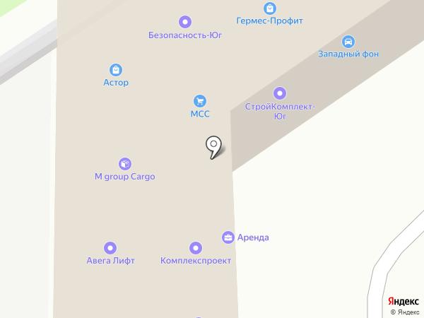 Мир Окон на карте Ростова-на-Дону