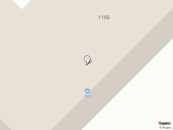 Луч на карте Рязани