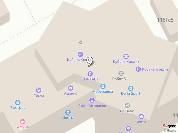 Афина на карте Ростова-на-Дону
