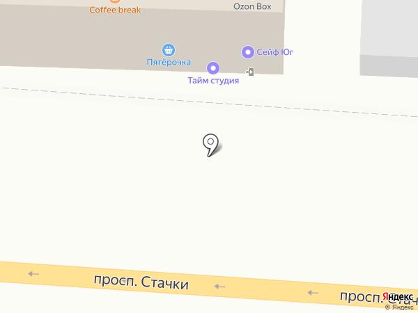 Кафе Софт Юг на карте Ростова-на-Дону