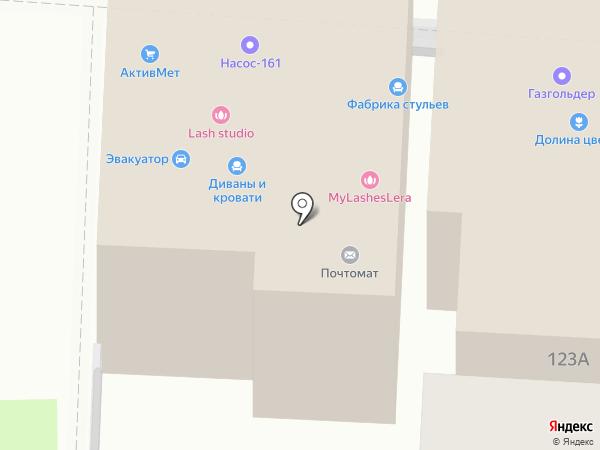 Фабрика стульев на карте Ростова-на-Дону