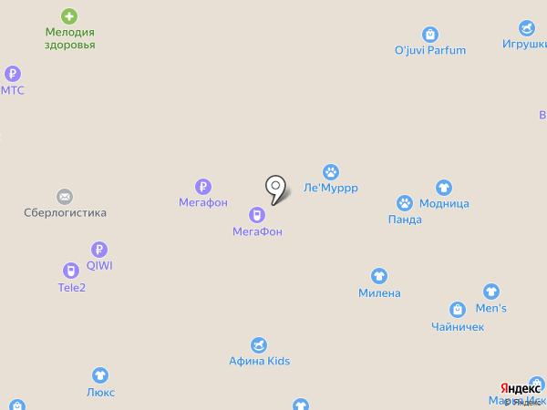 Афина на карте Липецка
