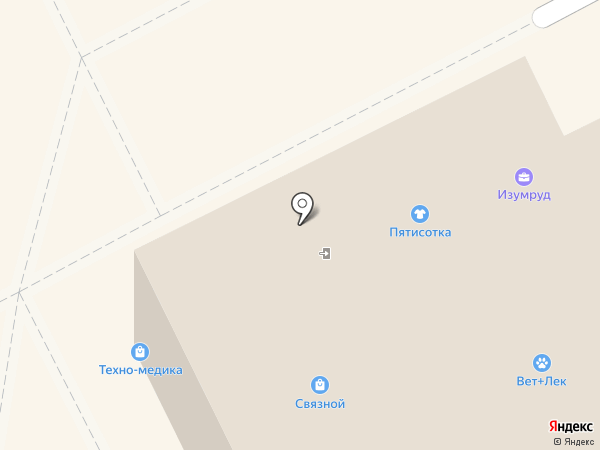 Магазин канцтоваров и детских игрушек на карте Липецка