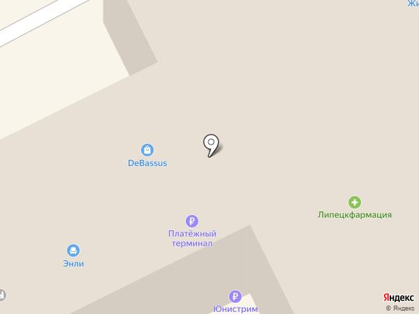 Данилушка и Ульянушка на карте Липецка