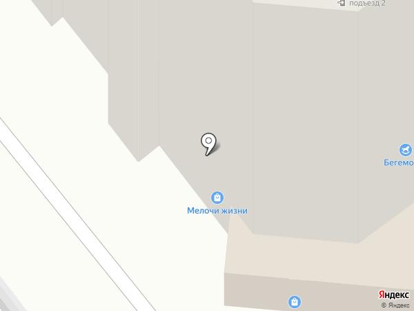 Бегемотик на карте Рязани