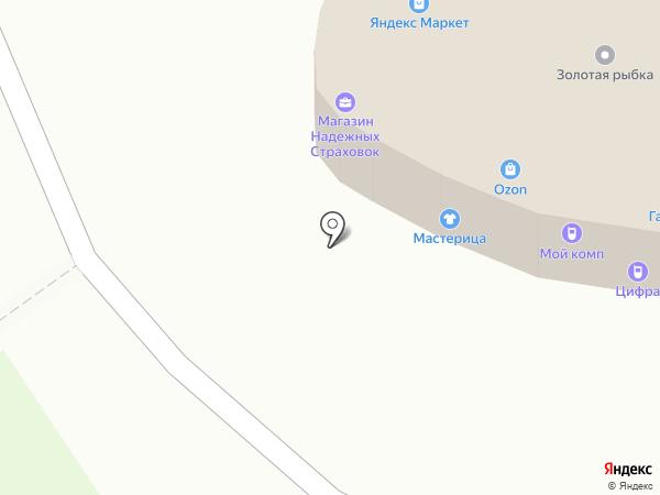 Золотая рыбка на карте Рязани