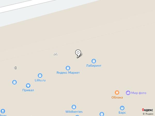 Ирис на карте Рязани
