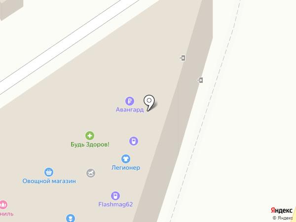 Магазин мужской одежды на карте Рязани