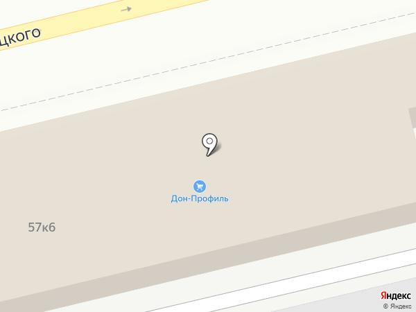 Магазин строительных и отделочных материалов на карте Ростова-на-Дону