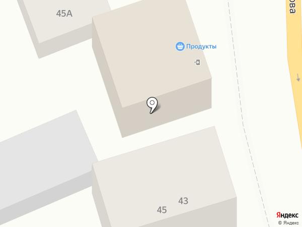 Продуктовый магазин на ул. Вавилова на карте Ростова-на-Дону